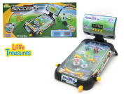 Pinball Soccer Game - Now play soccer on a green turf in the pinball style; ideal table board game for your 4+ child