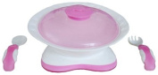 dBb Remond 211058 Antibacterial Plate and Cutlery Pink