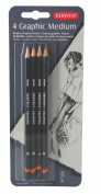 Derwent Graphic Medium Graphite Pencils Blister