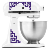 Japanese Traditional Medallion Pattern - Vinyl Decal Set for Kitchen Mixers - Purple