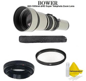 Bower 650-1300mm Super Telephoto Zoom Lens for Olympus E-620 E-600 E-520 E-510 E-500 E-450 E-420 E-410 E-400 E-330 E-300 E-5 E-3