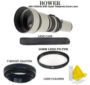 Bower 650-1300mm Super Telephoto Zoom Lens for Nikon D7200 D7100 D7000 D5500 D5300 D5100 D5000 D3300 D3200 D3100 D3000 D610 D300s D90