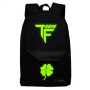 Fashion Tfboy Canvas Bag Backpack School Bag Luminous Bookbag