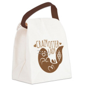 CafePress Canvas Lunch Bag - Crazy Otter Lady Canvas Lunch Bag - Khaki