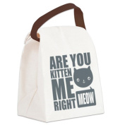CafePress Canvas Lunch Bag - Are You Kitten Me Right Meow Canvas Lunch Bag - Khaki