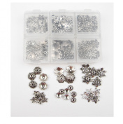ALL in ONE Mixed Antique Silver Tibetan Style Flower Cup Beads/spacer Beads Charms Jewellery Findings