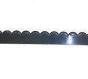 0.3cm Bezel Wire .999 Fine Silver Flat Scalloped