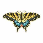 Yellow Swallowtail Butterfly Beaded Counted Cross Stitch Kit Mill Hill 2015 Spring Bouquet MH185104