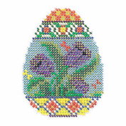 Tulip Egg Beaded Counted Cross Stitch Kit Mill Hill 2015 Spring Bouquet MH185105