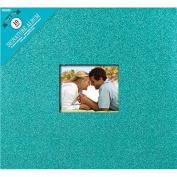 Colorbok Glitter Post Bound Album, 30cm by 30cm , Teal