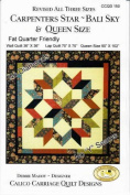 Carpenter's Star and Bali Sky Quilt Pattern Makes 3 Sizes