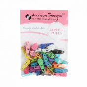 Atkinson Zipper Pulls Candy Colour Mix 30+ Assorted Colours