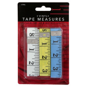 Junipers Soft Vinyl 300cm Sewing Tailoring Tape Measure, Assorted Colours, Pack of 3