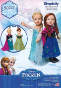 Simplicity Creative Patterns S0747 Frozen Costumes for 46cm Doll, Size