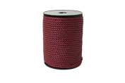 "Twisted Cord 68/3 (1/4"" - 5MM) - Maroon"