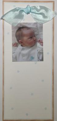 Tall Baby Boys Photo Card Birth Announcement