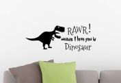 Wall Vinyl Decal Rawr means I love you in Dinosaur playroom sticker nursery vinyl saying lettering wall art inspirational sign wall quote decor