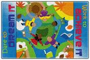 Dare To Dream Colourful Bright Kids Area Rugs