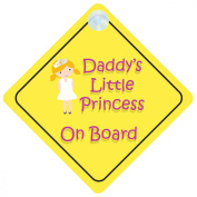 Princess003 On Board Car Sign New Baby / Child Gift / Present / Baby Shower Surprise