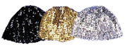 Costumes For All Occasions Ga67Gd Cloche Hat Sequin Gold