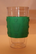 Hot Spots Silicone Emerald Green Cup Cooler