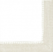 Entertaining with Caspari Linen Natural, Luncheon Napkin, Pack of 20