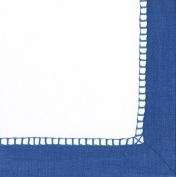 Caspari Entertaining Luncheon Napkin, Linen Marine Blue, 20-Pack