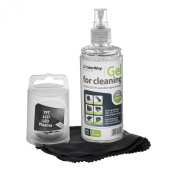 Screen Cleaning GEL Kit with Microfiber Cloth ColorWay. High Quality Cleaning Kit for Electronics, Mobile Devices, Laptops, Tablets, iPhone, iPad, LED, Screens and Monitors. Alcohol-free Gel with Anti-static, Antibacterial Properties Provides Perfect C ..