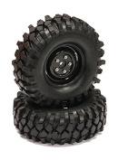 Integy RC Hobby C23731BLACK Rover Style 1.9 Wheels (2) w/ All Terrain Type II Tyres