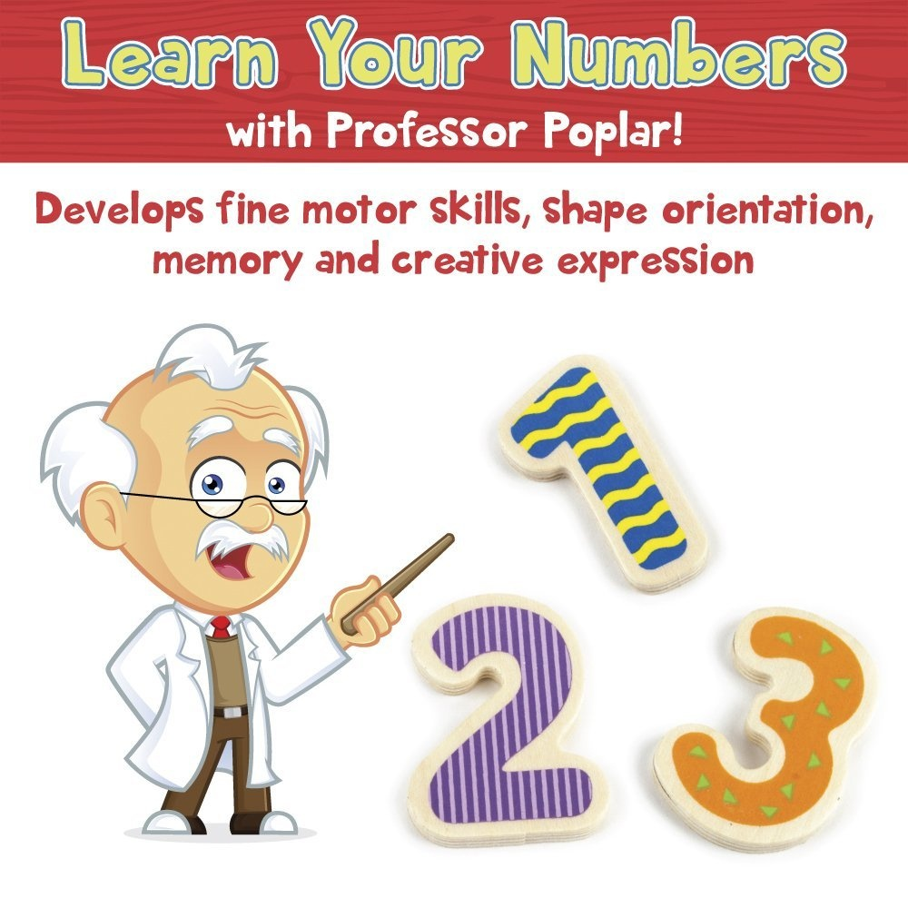 Professor Poplars Wooden Numbers Puzzle Board By Imagination Generation