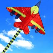 Hengda Kite Long Tail Cartoon Fighter Kites the Plane Kite for Children 1.5m with Flying Line