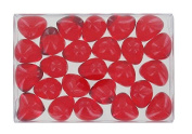 Box of 24 oil bath pearls - hearth shaped - flagrance strawberry