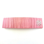 rougecaramel Faux Leather Rectangular Hair Barrette - Hair Accessories - Pink
