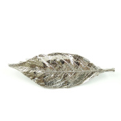rougecaramel - Hair Accessories - Leaf Metal Barrette - Silver