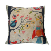 Malloom® Vintage etro Cute Birds on Tree Cushion Cover