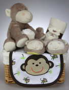 Unisex Baby Boy Girl Cheeky Monkey Hamper Gift Basket Baby Shower Present