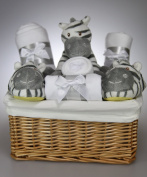 Unisex Baby Boy Girl Cute Zebra Hamper Gift Basket Baby Shower Present