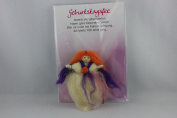 Birthday Fairy Reel J093 032, Lucky Fairy, Elf, Arts, Felt, 9 cm, with a lovely verse