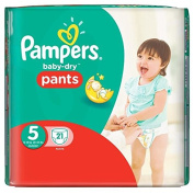 Pampers Baby Dry Pants Size 5 Nappies, 21 Nappies