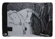 Moomin - Blanket -Night- black and white, 120x65 cm