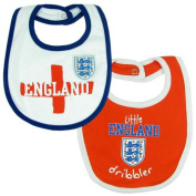 Baby Feeding Bibs - Official England FA Baby Bibs (2 Pack) - Novelty Baby Football Gift Ideas