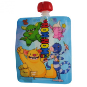 NEW Nom Nom Kids MONSTER Reusable Food Pouch 200ml x 8 pouches