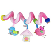 TiaoBug Infant Babys Activity Spiral Bed & Stroller Around Musical Rattles Hanging Bell Toy