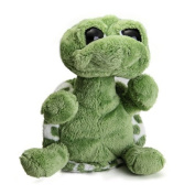 YunNasi Kawaii Big Eyed Turtle Sea Animal Soft Toy Plush Doll,Green, 40CM