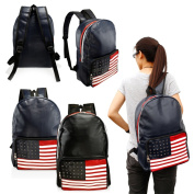 Gearonic Fashion Cute American Flag Women Girl Canvas School Backpack