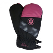 Weatherproof Girls Pink & Black Snow & Ski Mittens with Fleece Lining