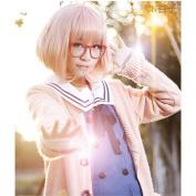 LanTing Beyond the Boundary Kyoukai No Kanata short orange Mirai Kuriyama Cosplay Party Fashion Anime Wig