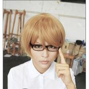 LanTing Danganronpa Dangan-ronpa Naegi Makoto short brown Cosplay Party Fashion Anime Wig hair
