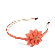 Headband with Beautiful Flower PU Leather On The Side