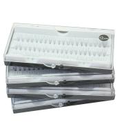 4 Box Black 12mm Natural False Eyelash Cluster Extension Lashes Grafting Individual Makeup Tool Set